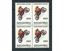 1984 - LOTTO/8045Q - SAN MARINO - CAMPIONATO DI MOTOCROSS - QUARTINA - NUOVI