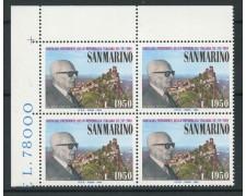 1984 - LOTTO/8048Q -  SAN MARINO - VISITA DEL PRESIDENTE PERTINI - QUARTINA NUOVI