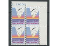 1985 - LOTTO/8053Q - SAN MARINO - EMIGRAZIONE - QUARTINA NUOVI