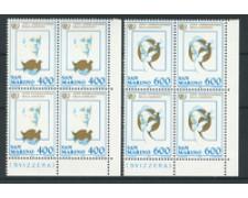1985 - LOTTO/8054Q - SAN MARINO - ANNO GIOVENTU - QUARTINA NUOVI