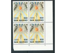 1985 - LOTTO/8055Q - SAN MARINO - CONFERENZA DI HELSINKI - QUARTINA NUOVI