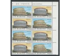 1985 - LOTTO/8060Q - SAN MARINO - ITALIA 85 QUARTINA - NUOVI