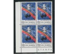1986 - LOTTO/8067QN - SAN MARINO - ANNO PACE QUARTINA