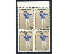 1986 - LOTTO/8069QN - SAN MARINO - CAMPIONATO BOCCE QUARTINA