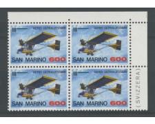 1987 - LOTTO/8075Q - SAN MARINO - AEREI ULTRALEGGERI - QUARTINA NUOVI