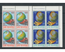 1988 - LOTTO/8083QN - SAN MARINO - EUROPA 2v.  QUARTINE