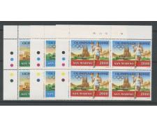 1991 - LOTTO/8114Q - SAN MARINO - PREOLIMPICA BARCELLONA - QUARTINE NUOVI