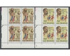 1991 - LOTTO/8115Q - SAN MARINO - CENTENARIO PALLACANESTRO - QUARTINE NUOVI