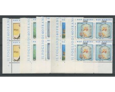 1991 - LOTTO/8116Q - SAN MARINO - VITA QUOTIDIANA QUARTINE NUOVI