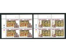 1995 - LOTTO/8154QN - SAN MARINO - BASILICA SANTA CROCE - QUARTINE NUOVI