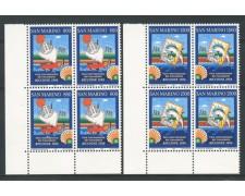 1998 - LOTTO/8145QN - SAN MARINO - FIERA DEL FRANCOBOLLO 2v. - QUARTINE