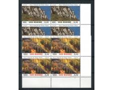 1999 - LOTTO/8204QN - SAN MARINO - PARCHI NATURALI - QUARTINE NUOVE