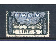 1923 - LOTTO/REG146PER - REGNO - 5 LIRE MARCIA SU ROMA USATO