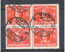 1947 -  LBF/592A - REPUBBLICA  - RECAPITO AUTORIZZATO 8 LIRE