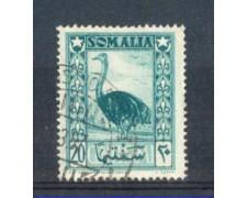 1950 - LOTTO/9840U - SOMALIA  AFIS - 20c. SMERALDO - USATO