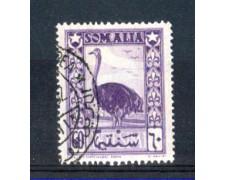 1950 - LOTTO/9843U - SOMALIA AFIS - 60c. LILLA VIOLACEO - USATO