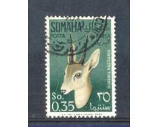 1955 - LOTTO/9860U - SOMALIA AFIS - P/AEREA - 35c. GAZZELLE USATO