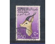 1955 - LOTTO/9862U - SOMALIA AFIS - P/AEREA 50c. GAZZELLE USATO