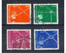 1952 - LOTTO/SVI520CPU - SVIZZERA - CENTENARIO TELECOMUNICAZIONI - USATI