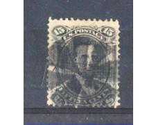 1867 - LBF/2934  - STATI UNITI - 15c. NERO CON GRIGLIA