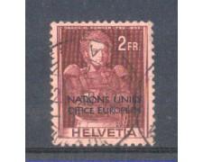1950 - LOTTO/3112 - SVIZZERA  2 Fr. NATION UNIES OFFICE EUROPEEN - USATO