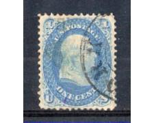 1861 - LOTTO/3594 - STATI UNITI  - 1c. FRANKLIN USATO