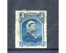 1876/79 - LOTTO/1799 -  TERRANOVA - 3c. REGINA VITTORIA - USATO