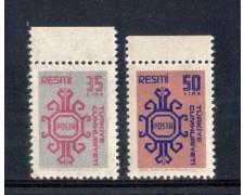 1981 - LOTTO/9899 - TURCHIA - SERVIZIO  2v. - NUOVI