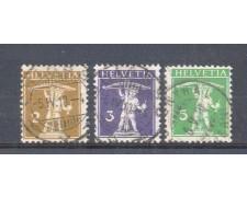 1909 - LOTTO/9919 - SVIZZERA - WALTER TELL - USATI