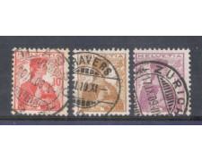 1909 - LOTTO/9920 - SVIZZERA - HELVETIA 3v. -  USATI