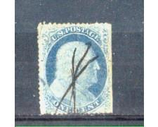 1857 - LBF/2928 -  STATI UNITI - 1c. AZZURRO B.FRANKLIN