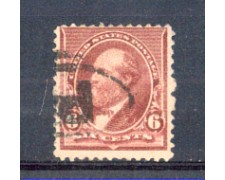1890 - LBF/2944 - STATI UNITI - 6c. ROSSO BRUNO GARFIELD - USATO