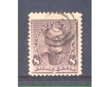 1890 - LBF/2945 - STATI UNITI - 8c. LILLA SHERMAN - USATO
