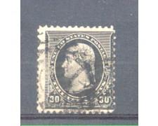 1890 - LBF/2947 -  STATI UNITI - 30c. NERO JEFFERSON USATO