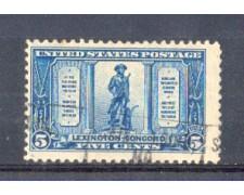 1925 - LBF/2973 -  STATI UNITI - 5c. BATTAGLIA DI LEXINGTON USATO