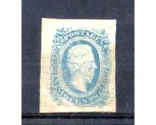 1863/64 - LBF/2977 - STATI CONFEDERATI D'AMERICA - 10c. AZZURRO  JEFFERSON