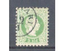 1867 - LBF/2032 - AUSTRIA LEVANTE - 3 SOLDI VERDE - USATO