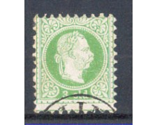 1867 - LBF/2034 - AUSTRIA LEVANTE - 3 SOLDI VERDE - USATO