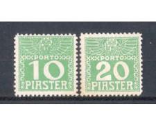1908 - LBF/2033 - AUSTRIA LEVANTE - 10/20 PIASTRE SEGNATASSE