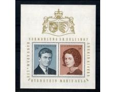 1967 - LOTTO/LIEBF10N - LIECHTENSTEIN - NOZZE PRINCIPE FOGLIETTO