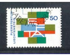 1967 - LOTTO/LIE432U - LIECHTENSTEIN -  50r. E.F.T.A. - USATO