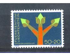 1967 - LOTTO/LIE433N - LIECHTENSTEIN - 50+20r. ASSISTENZA ONU