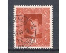 1949 - LOTTO/LIE233U - LIECHTENSTEIN - 20r. RUBENS - USATO