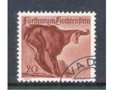1947 - LOTTO/LIE228U - LIECHTENSTEIN - 20r. CAMOSCIO - USATO