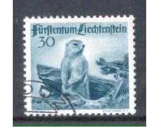 1947 - LOTTO/LIE229U - LIECHTENSTEIN - 30r. MARMOTTA - USATO