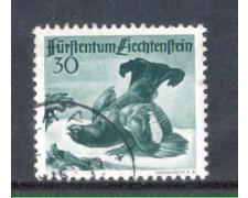 1950 - LOTTO/LIE248U - LIECHTENSTEIN - 30r. FAGIANO DI MONTE - USATO