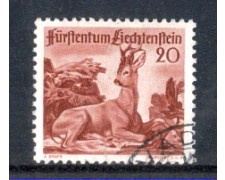 1950 - LOTTO/LIE247U - LIECHTENSTEIN - 20r. CAPRIOLO - USATO