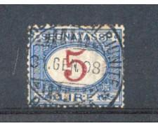 1903 - LOTTO/REGT30U2 - REGNO - 5 LIRE SEGNATASSE USATO