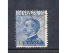 LA CANEA - 1907/12 - LOTTO/10084U - 25 cent. azzurro - USATO