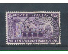 1926 - TRIPOLITANIA - LOTTO/10101U - 40 cent. SAN FRANCESCO - USATO